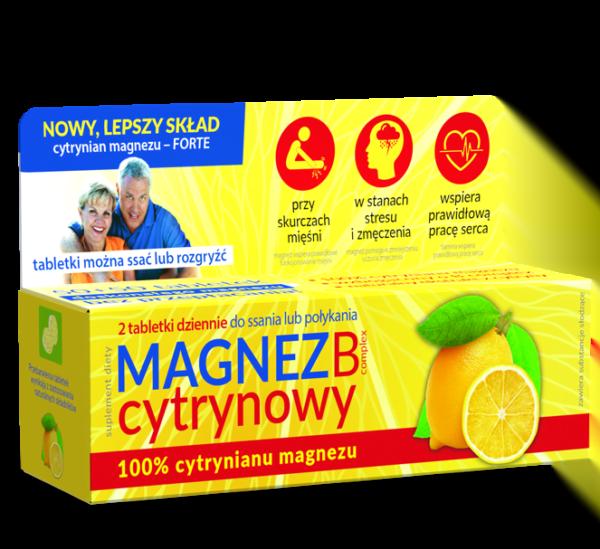 Magnez B Complex - przy skurczach, w stanach stresu i zmęczenia, wspiera prawidłową pracę serca